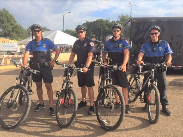 Bike Patrol Officers with Bikes