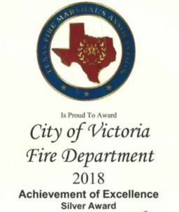City of Victoria Fire Department 2018 Achievement of Excellence Silver Award